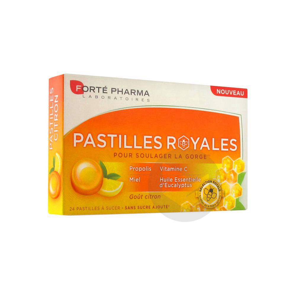 Forte Pharma Pastilles Royales Gout Citron 24 Pastilles A Sucer