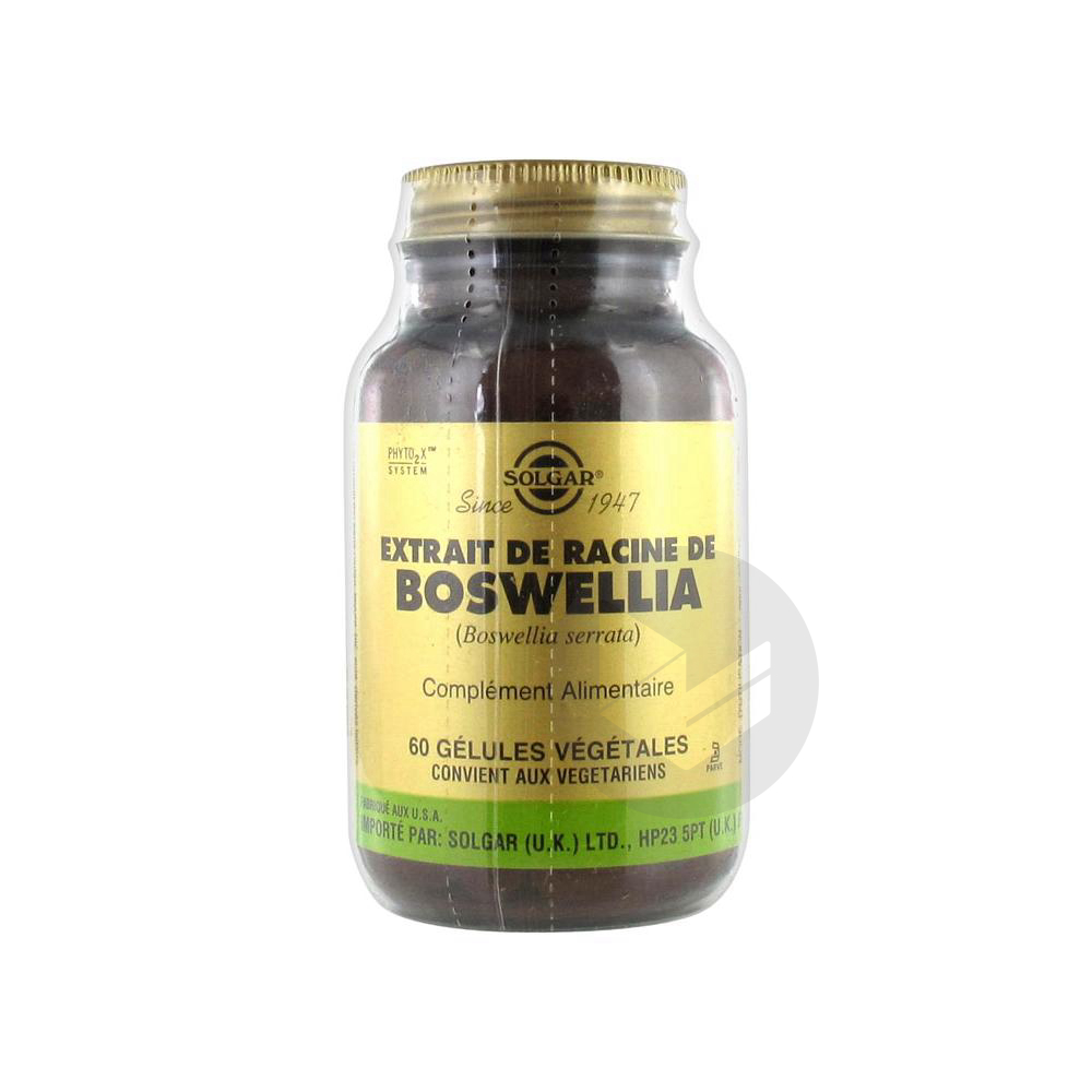 Extrait De Racine De Boswellia 60 Gelules Vegetales