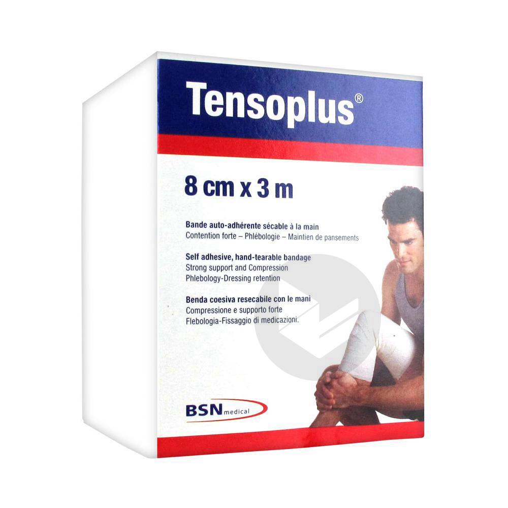 Tensoplus Bande Auto Adherente Secable A La Main 8 Cm X 3 M