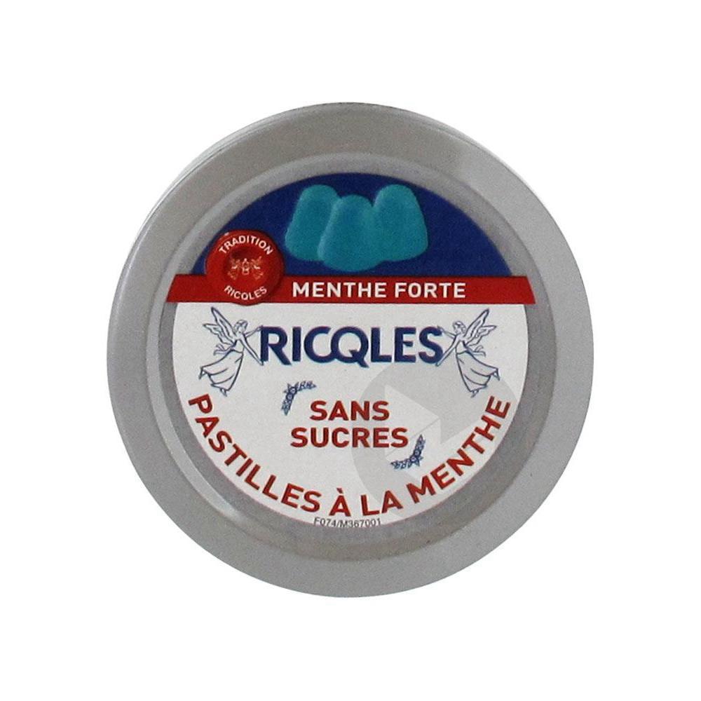 Ricqles Pastilles A La Menthe Sans Sucres 50 G