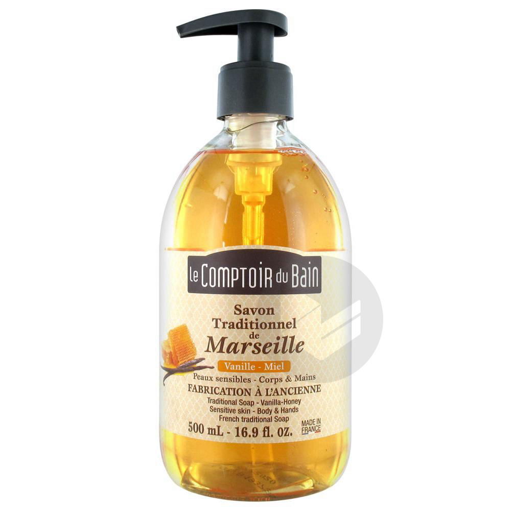 Sav Traditionnel De Marseille Vanille Miel Fl Pompe 500 Ml