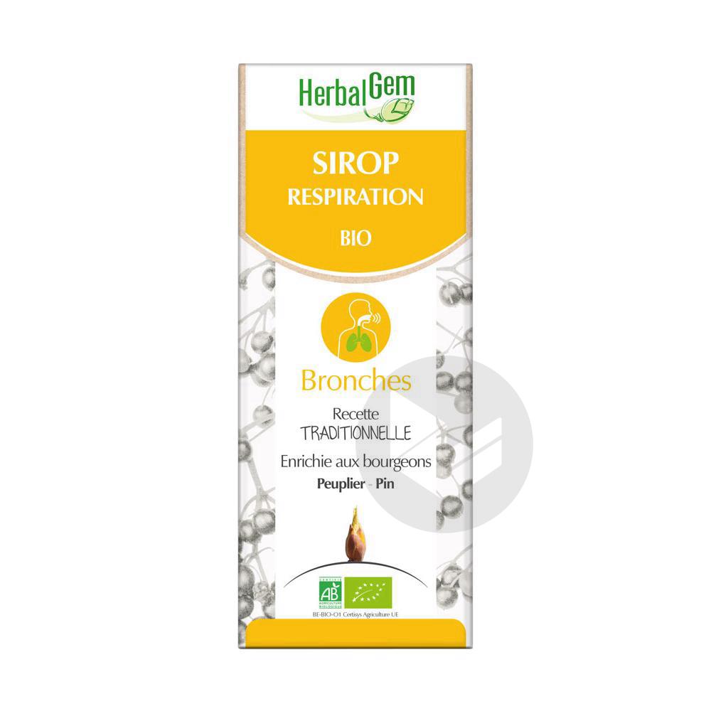 Herbal Gem Sirop Respiration Bio 150 Ml