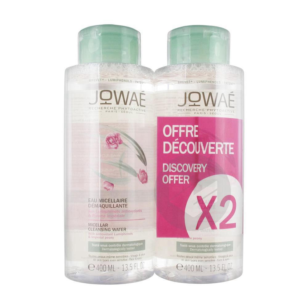Jowaé Eau Micellaire Démaquillante 2 x 400 ml