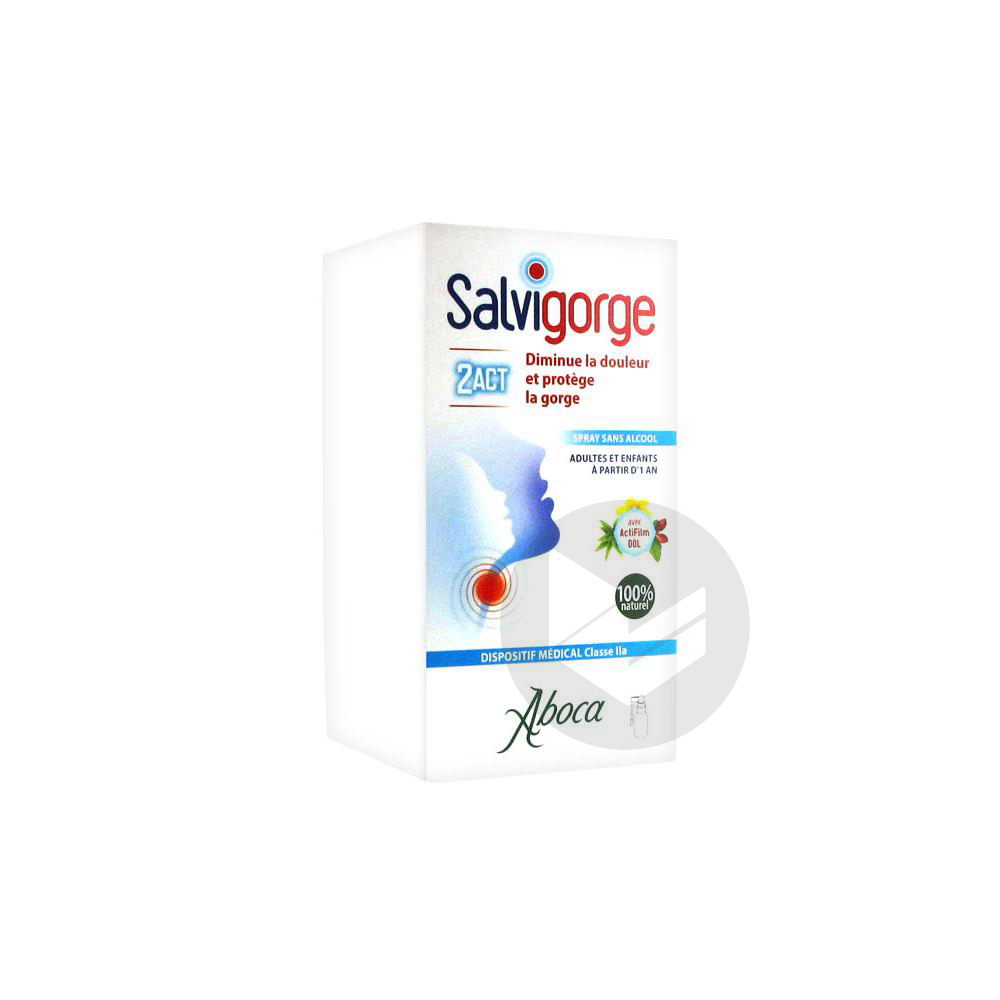 Salvigorge 2 Act Spray Sans Alcool 30 Ml