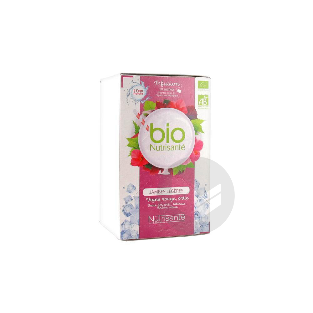 Nutrisante Infusions Bio Tis Froide Jambes Legeres 20 Sach