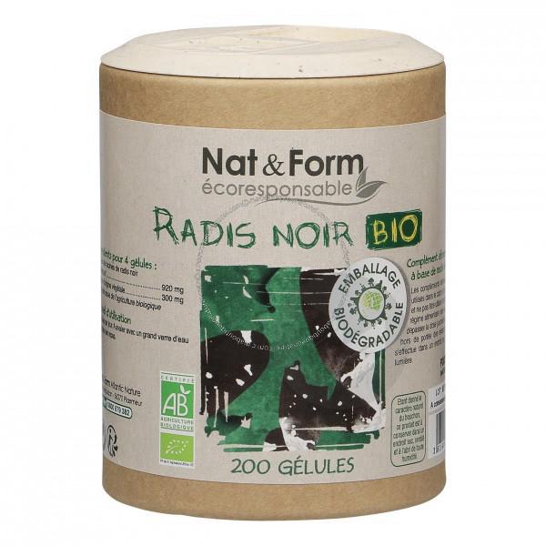 Radis Noir Bio Eco Responsable 200 Gelules
