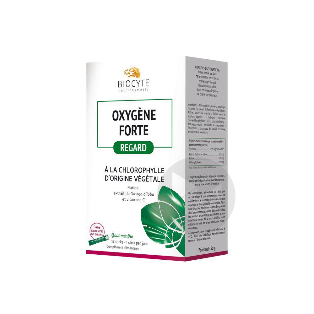 Biocyte Oxygène Forte Regard 15 Sticks