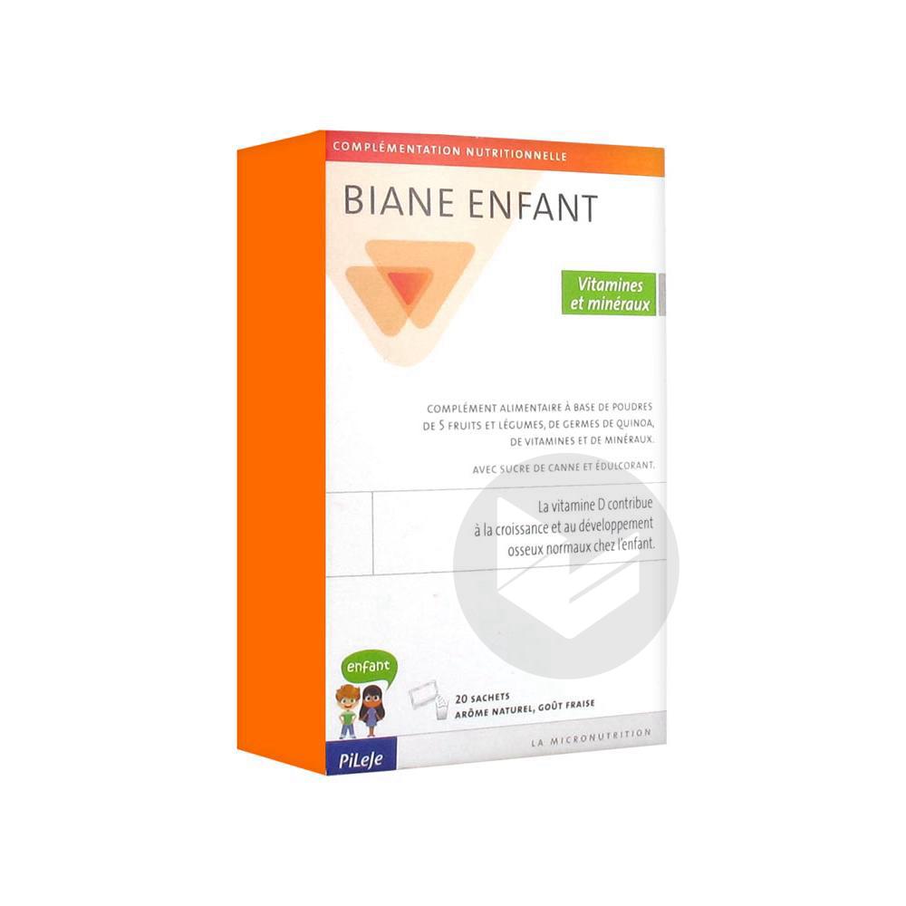 BIANE ENFANT Vitamines & Minéraux Pdr or 20Sach