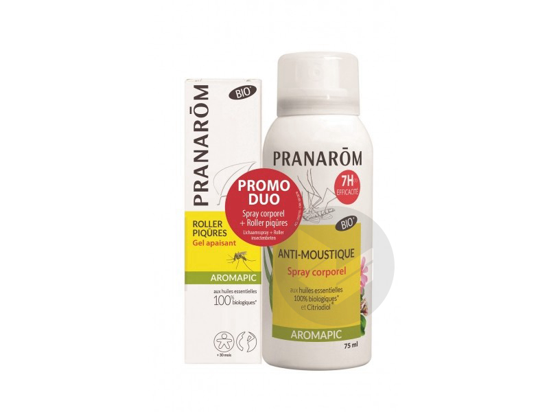 Pranarom Aromapic Spray Anti Moustique Atmosphere Tissus 100 Ml Aromapic Roller Anti Moustique Lait Corporel 75 Ml
