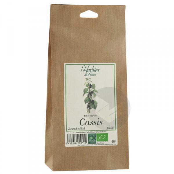 Cassis feuilles Bio - 40 g