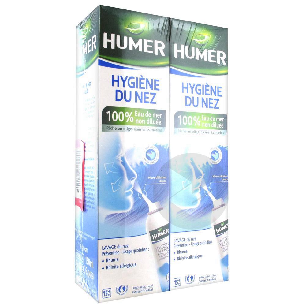 Hygiene Du Nez Adulte Lot De 2 X 150 Ml