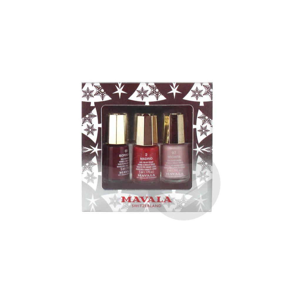 Coffret Argente 3 Mini Color Vernis A Ongles Creme 5 Ml