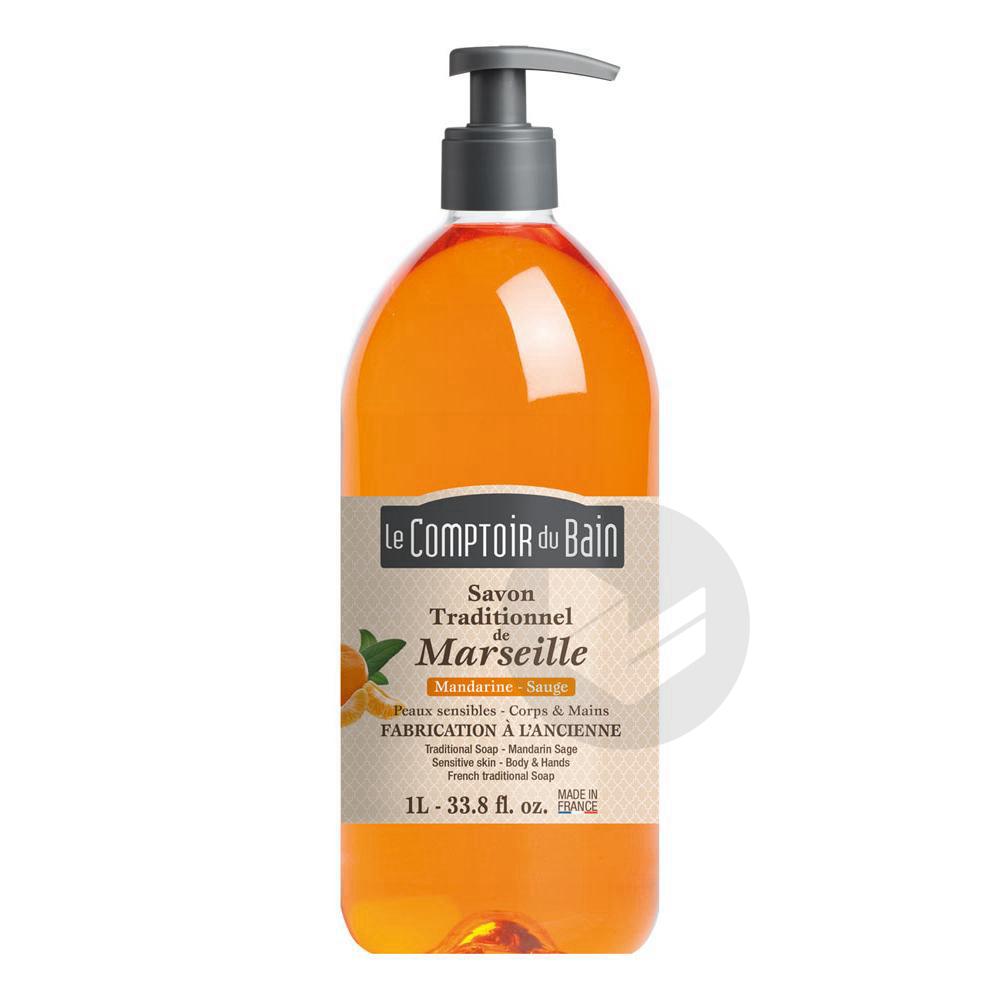 Savon Traditionnel De Marseille Mandarine Sauge 1 L