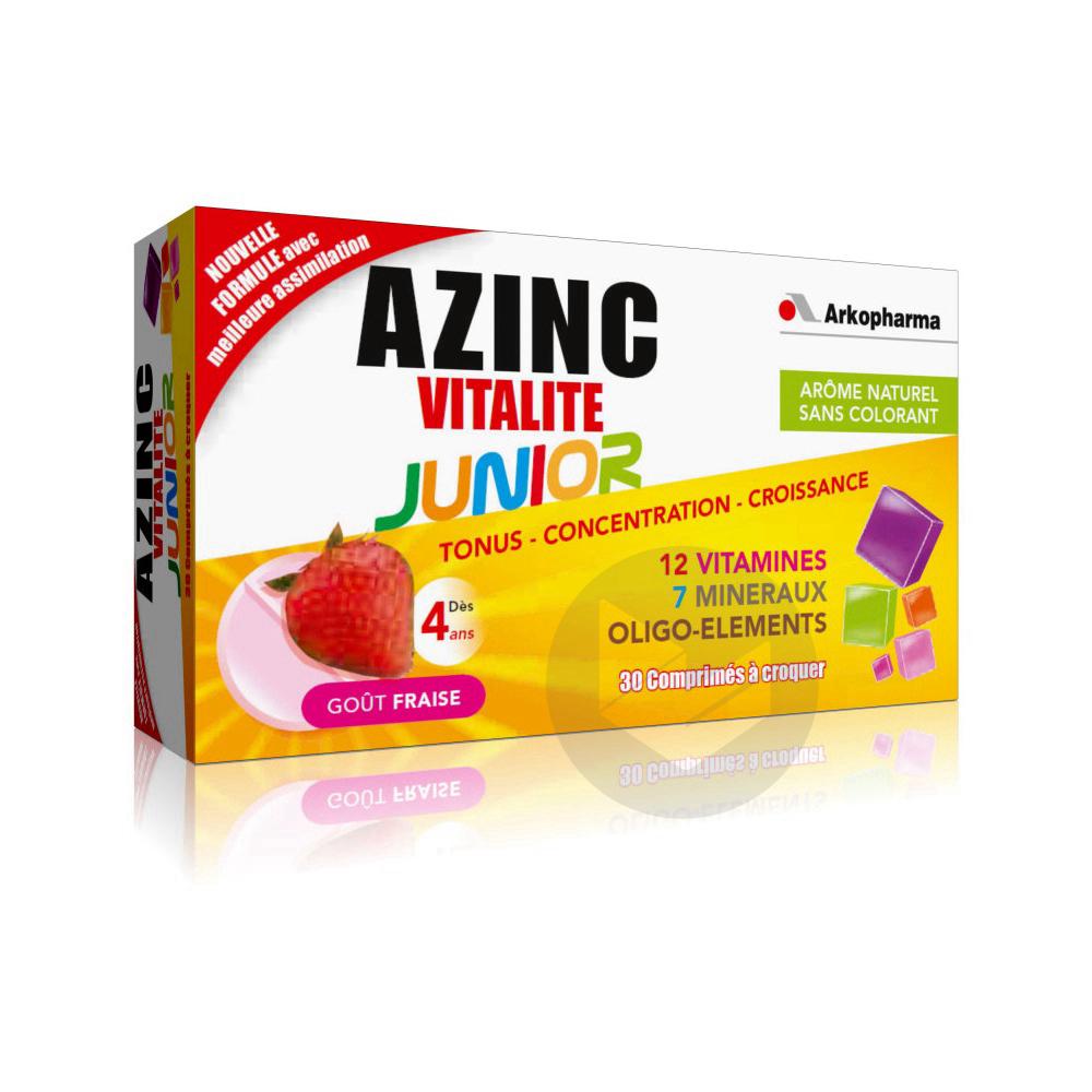 Azinc Vitalite Junior Cpr A Croquer Fraise Des 4 Ans B 30