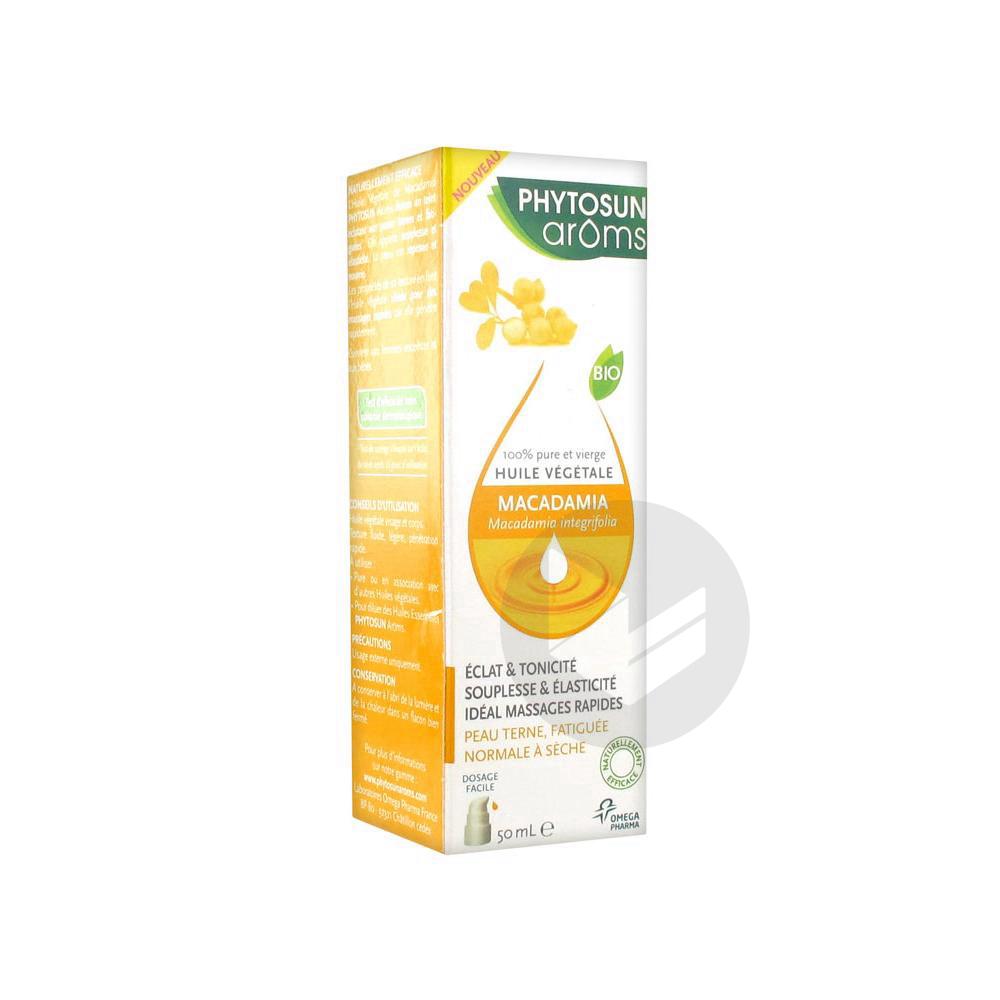 Aroms Huile Vegetale Bio Macadamia Fl Pompe 50 Ml
