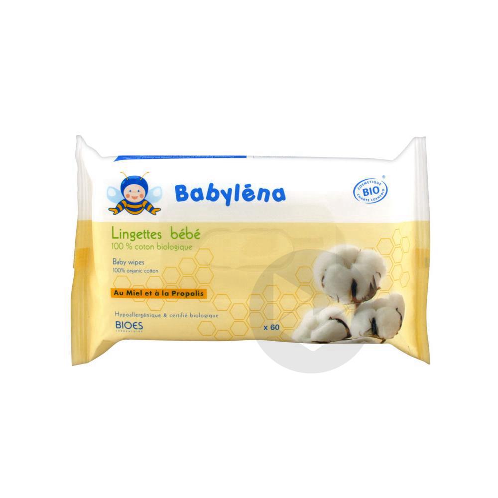 BABYLENA Lingette 100% coton bio bébé Pack/60