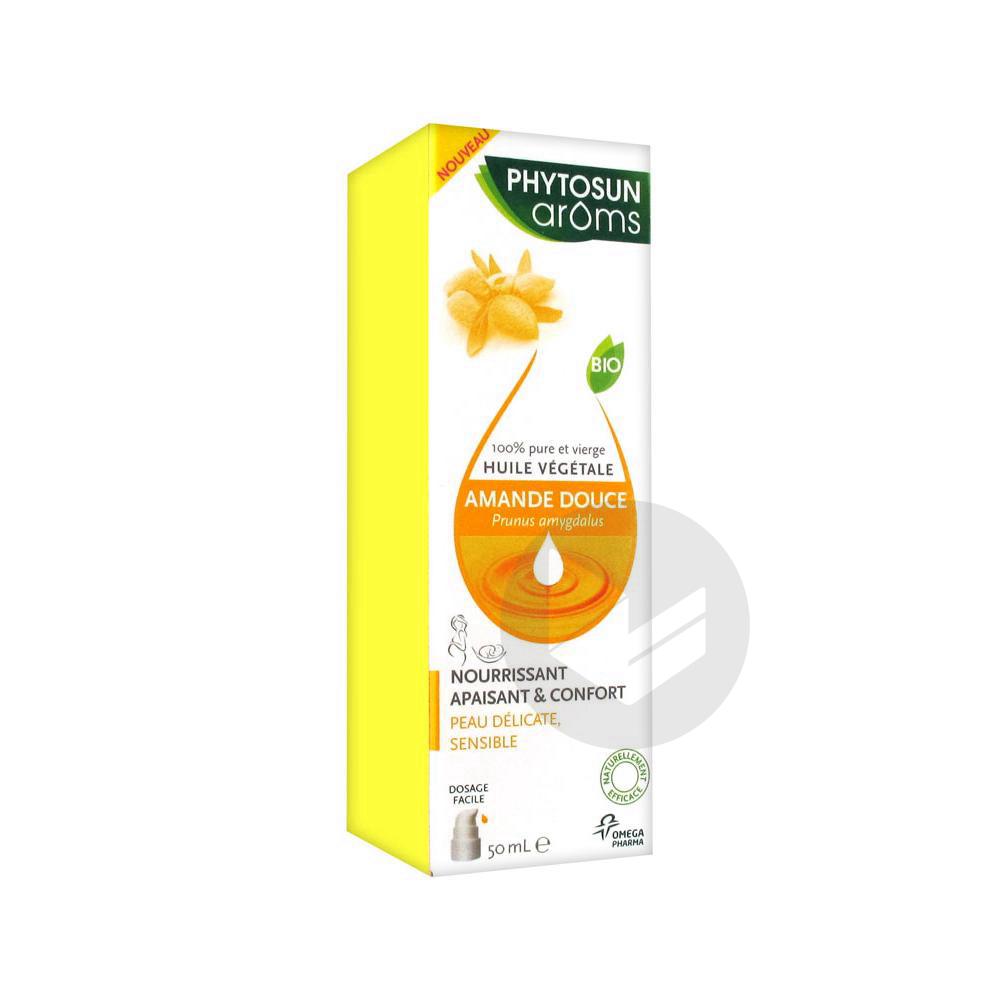 Phytosun Aroms Huile Vegetale Bio Amande Douce Fl Pompe 50 Ml