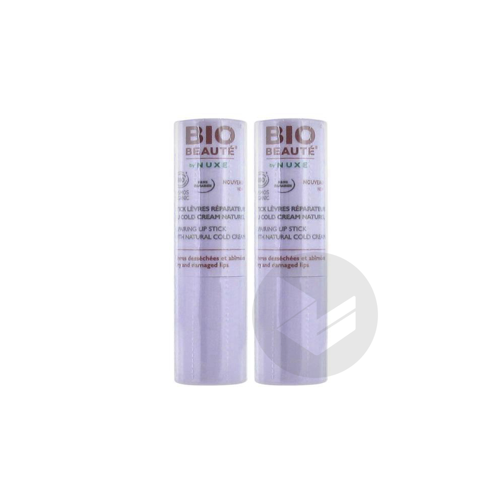 Bio Beaute By Nuxe Stick Levres Cold Cream 2 Etuis 4 G