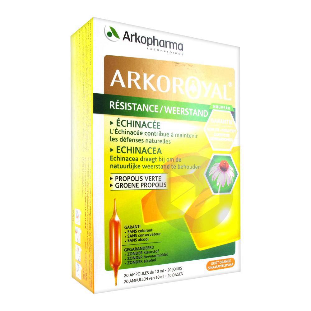 Arko Royal Resistance Propolis Verte 20 Ampoules