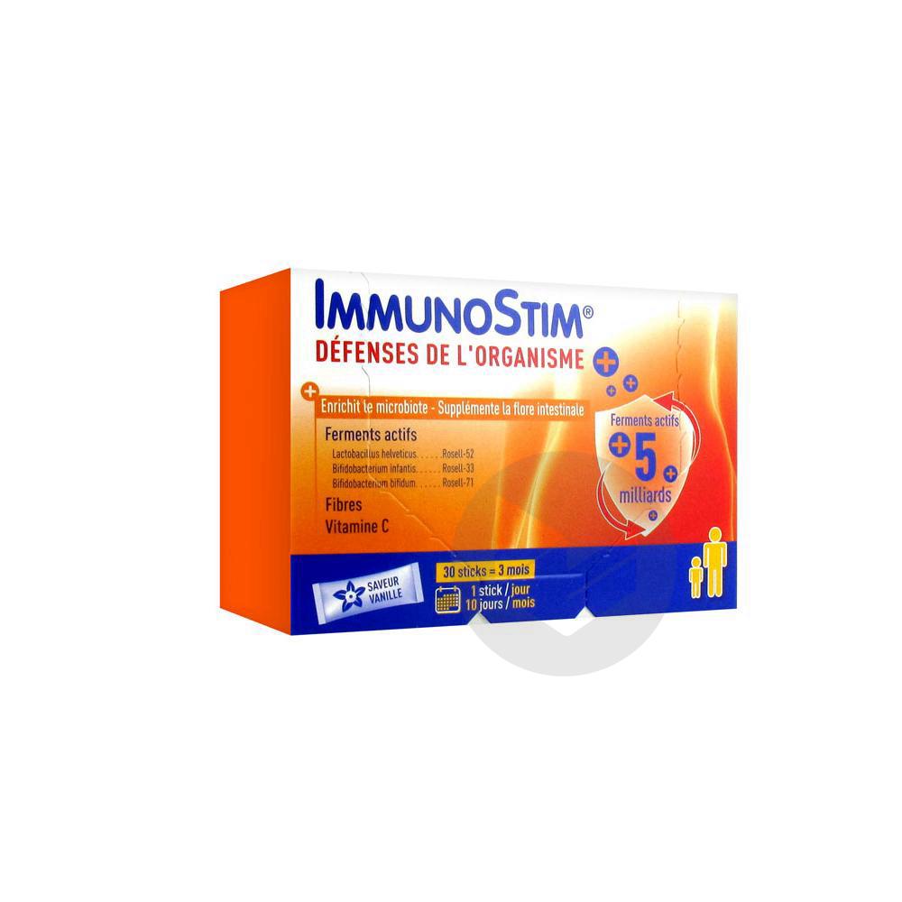 Immunostim Defenses De Lorganisme Pdr Sol Buv Enfant Adulte Senior 30 Sticks
