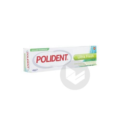 POLIDENT ULTRA FRESH Cr adhésive appareil dentaire T/40g