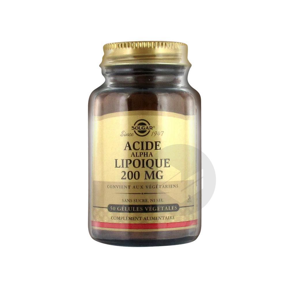 SOLGAR Acide Lipoïque Gél Pot/50