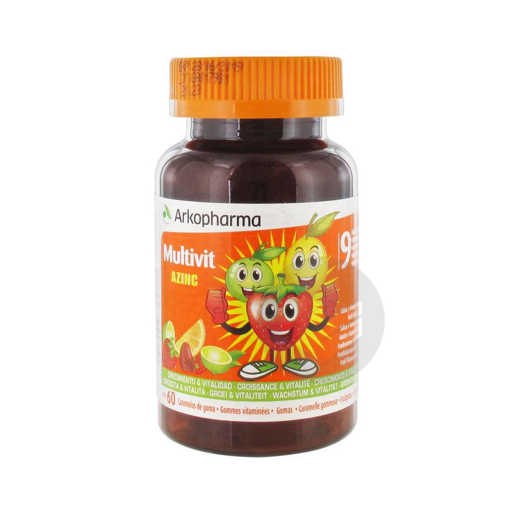 Multivit Azinc 60 Gommes Vitamines