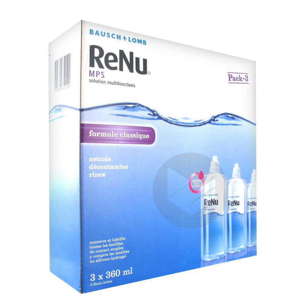 Renu Mps S Lent Souple Multifonction 3 Fl 360 Ml
