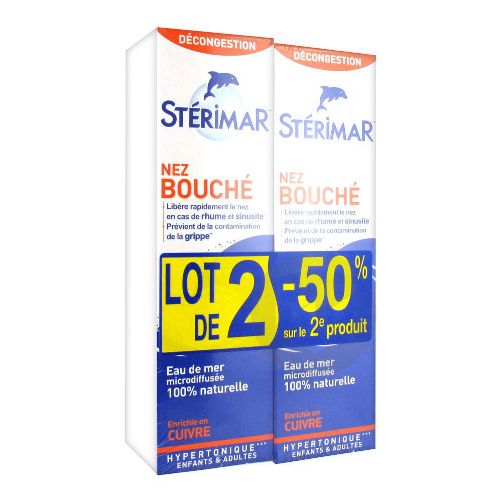 Sterimar Nez Bouche Lot De 2 X 100 Ml