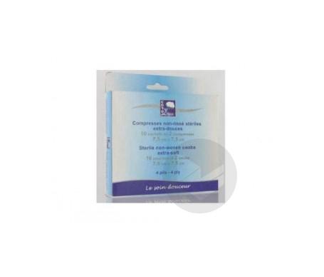 Compresses Non Tisse Steriles 7 5 X 7 5 Cm De 10 Pochettes