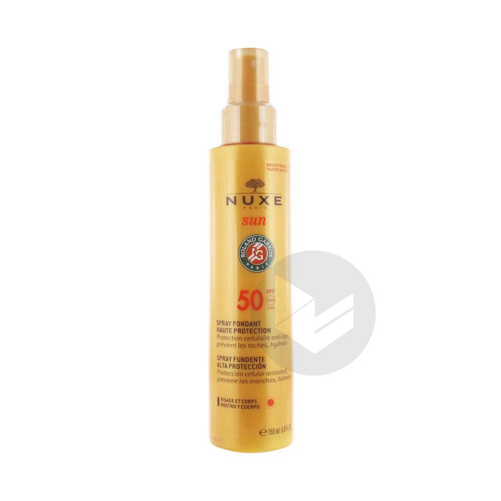 Sun Spf 50 Spray Fondant Visage Et Corps Fl 150 Ml