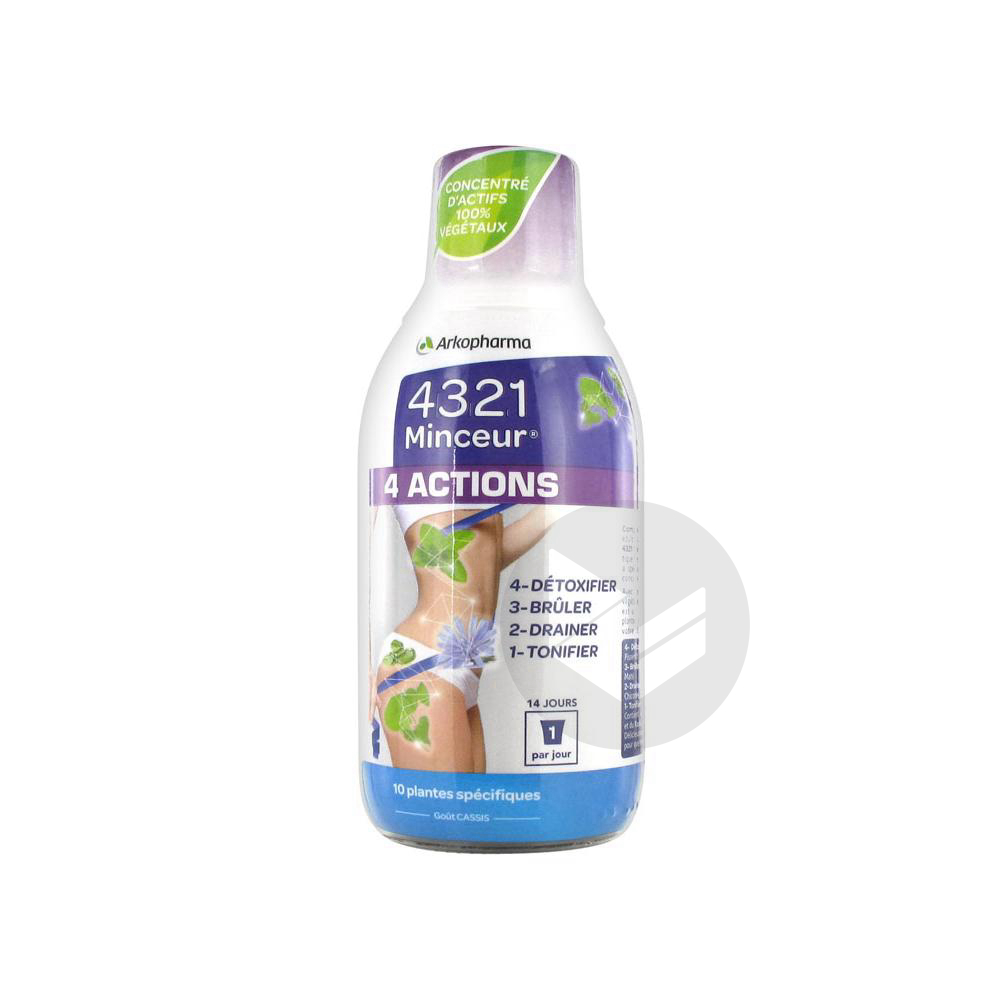 4 3 2 1 Minceur 4 Actions S Buv Fl 280 Ml