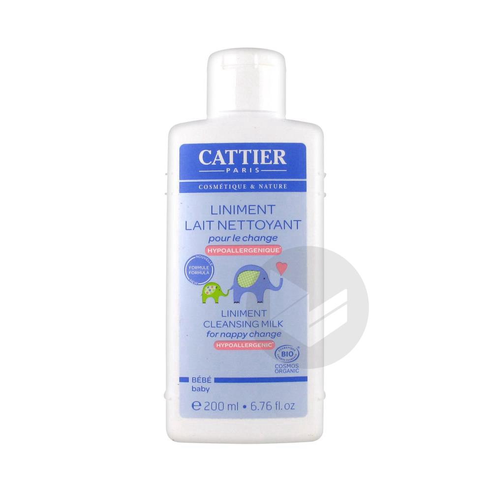 CATTIER BEBE Liniment lait nettoyant pour le change Fl/200ml