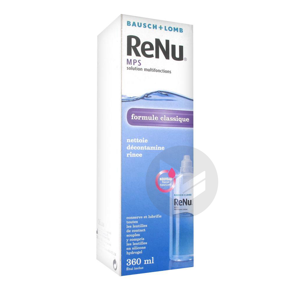 Bausch Lomb Re Nu Mps Solution Multifonctions 360 Ml