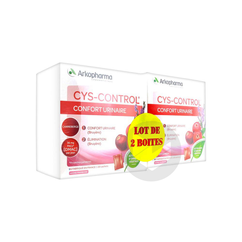Cys Control Confort Urinaire Lot De 2 X 20 Sachets