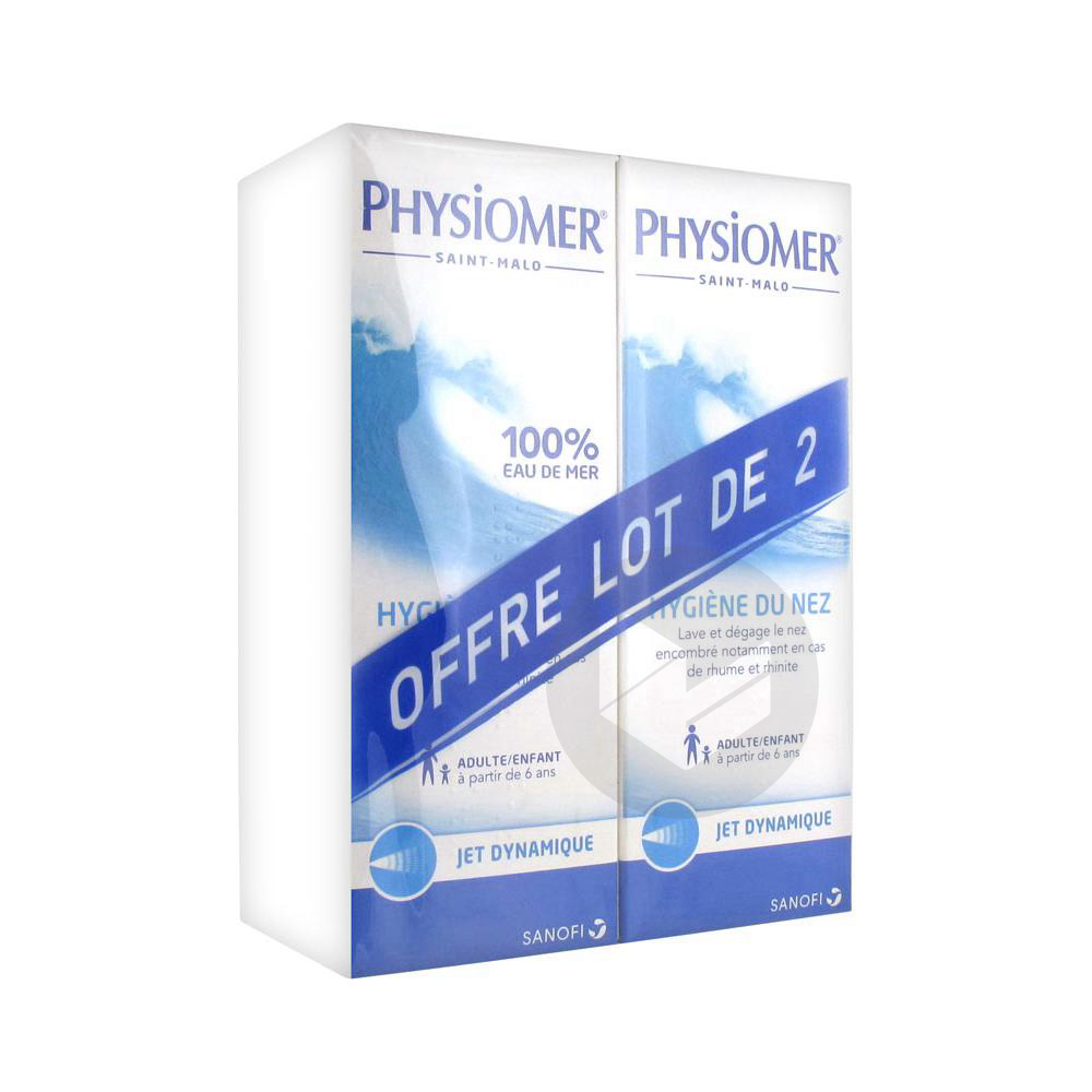 Hygiene Nasale Jet Dynamique Lot De 2 X 135 Ml