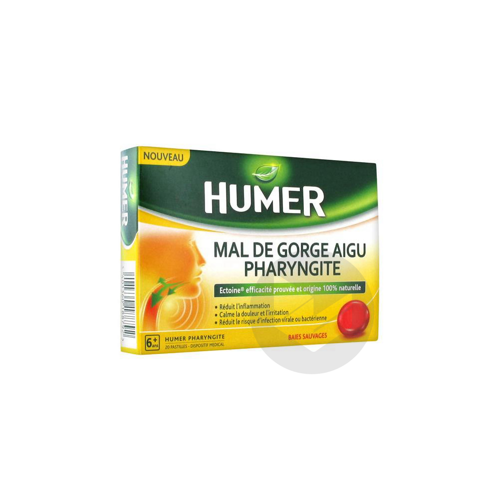 Humer Pharyngite Past Mal De Gorge Baies Sauvages B 20