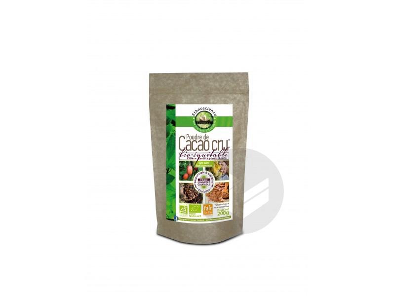 Cacao Cru En Poudre Bio Sans Sucre 200 G