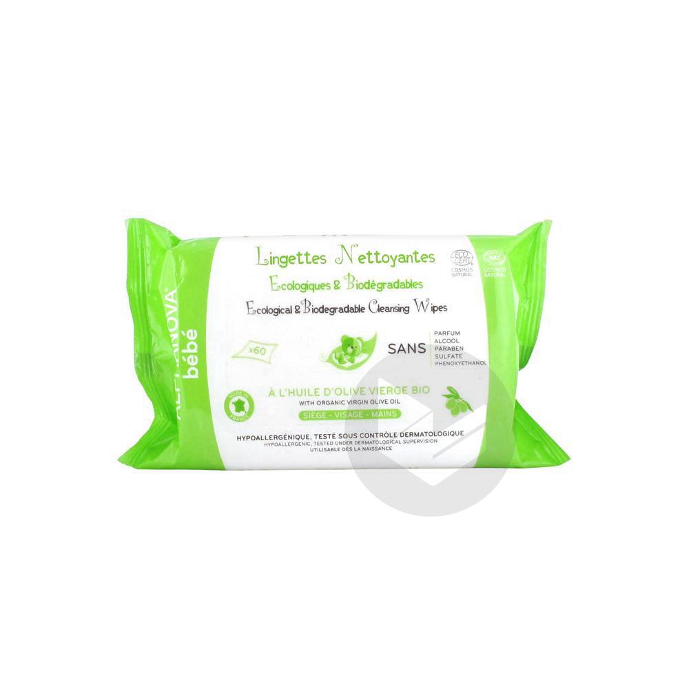 Bebe Lingettes Nettoyantes Ecologiques Et Biodegradables 60 Lingettes