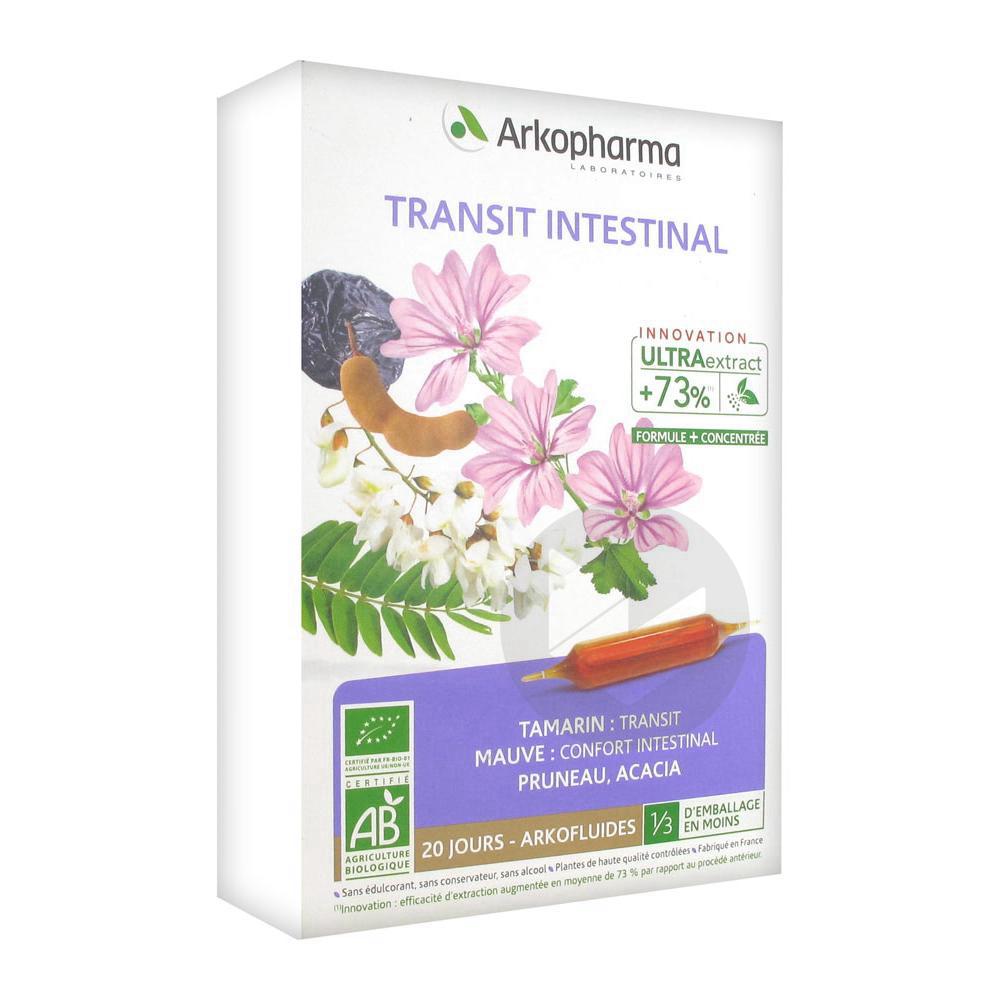 Arkofluide Bio Ultraextract S Buv Transit Intestinal 20 Amp 10 Ml