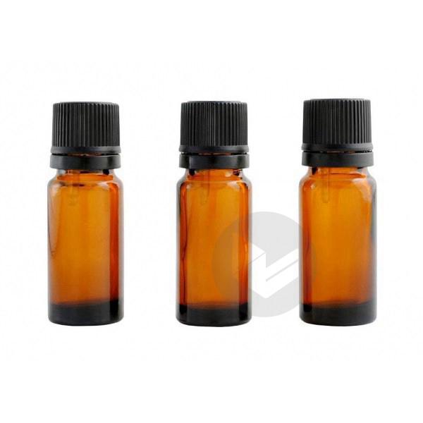 Flacon ambré avec codigouttes (lot de 3) - 10 ml