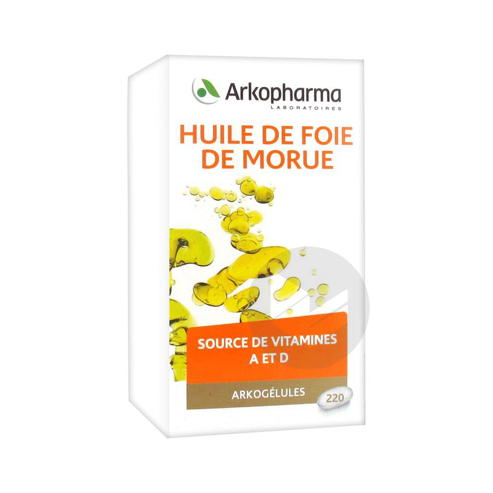 Arkogelules Huile De Foie De Morue Caps Fl 220