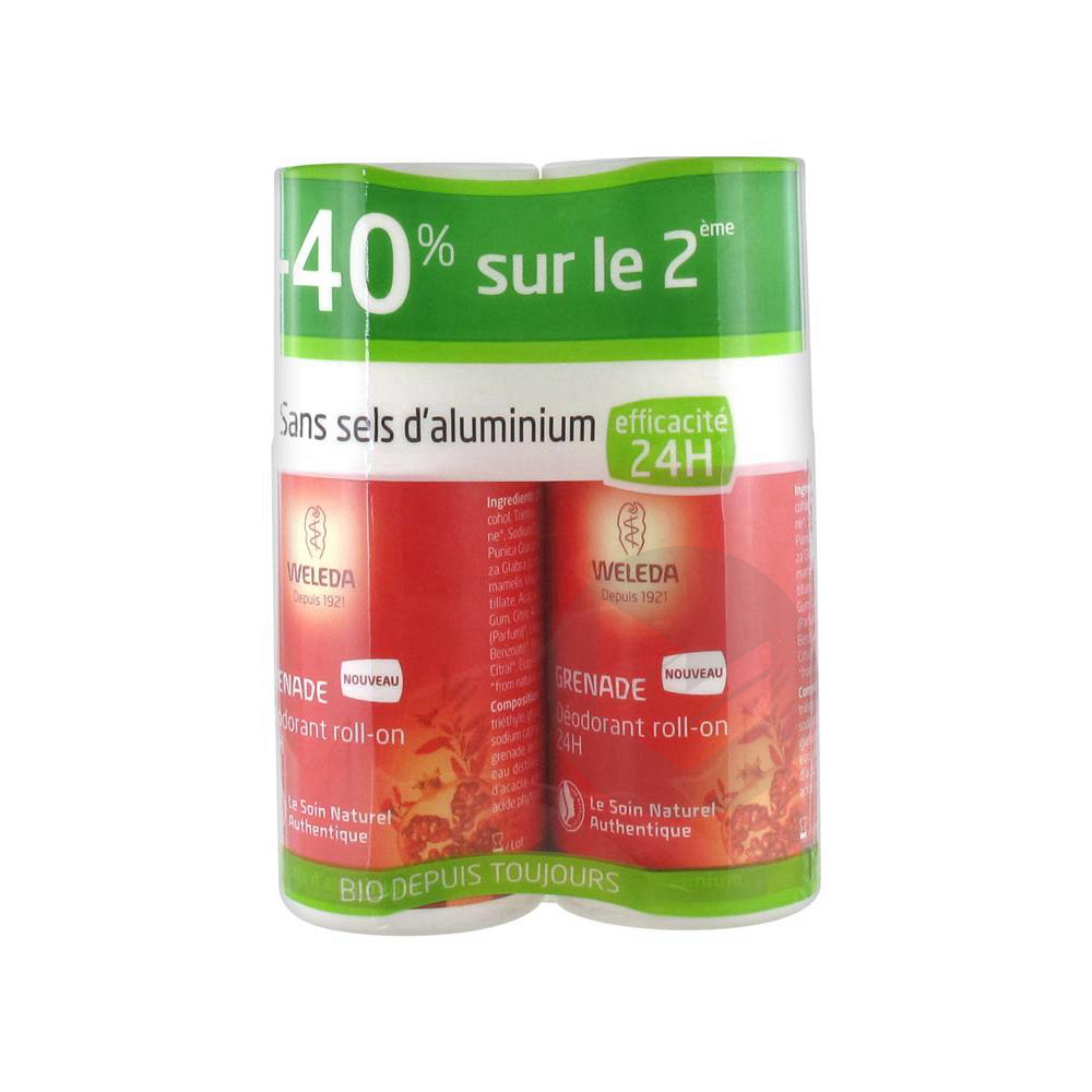 Deodorant A La Grenade Roll On 24 H Lot De 2 X 50 Ml