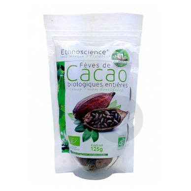 Fèves de cacao entières Bio - 125 g