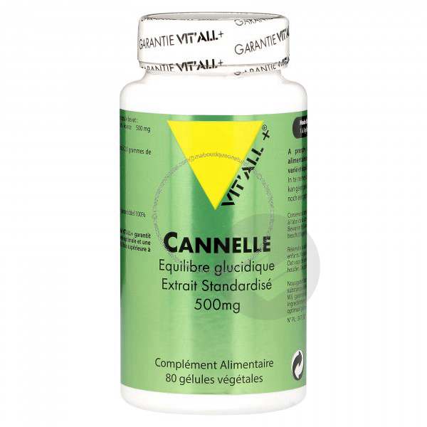 Cannelle 500mg - 80 Vcaps