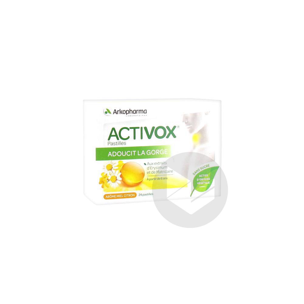 Activox Sans Sucre Past Miel Citron B 24