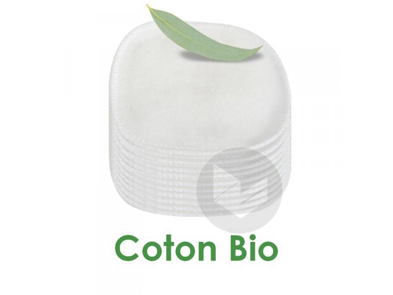 Lot 10 carrés démaquillants lavables Coton Bio