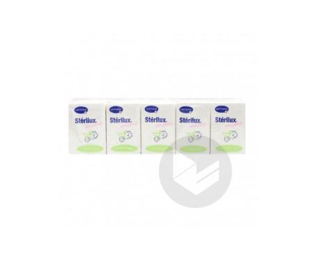 Sterilux Douceur 10 Paquets De 10 Mouchoirs Blancs