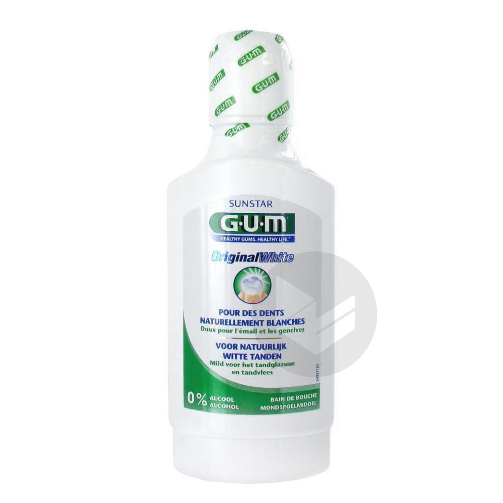 GUM ORIGINAL WHITE Bain bouche adulte enfant Fl/300ml