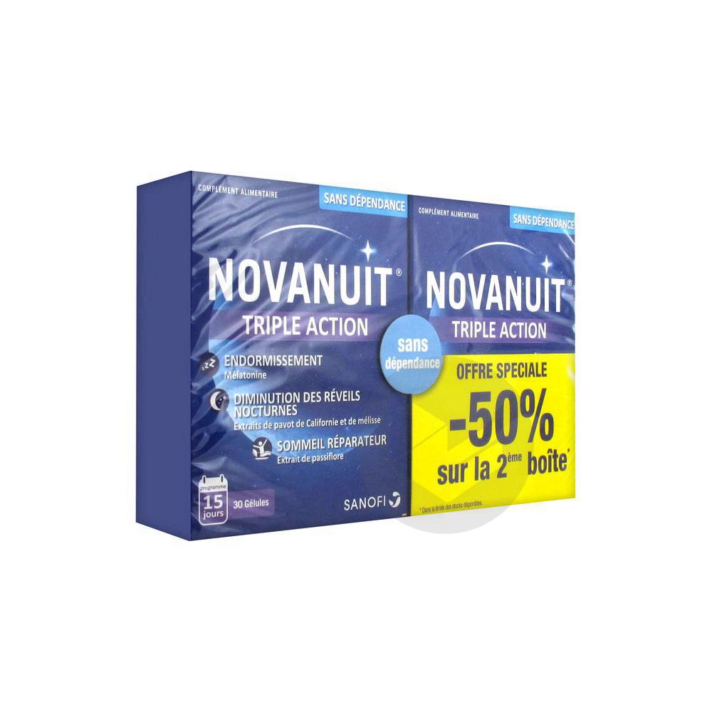 Novanuit Triple Action Lot De 2 X 30 Gelules